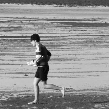 Hardlopen op blote voeten
