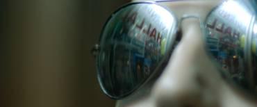 Hardlopen met een zonnebril op