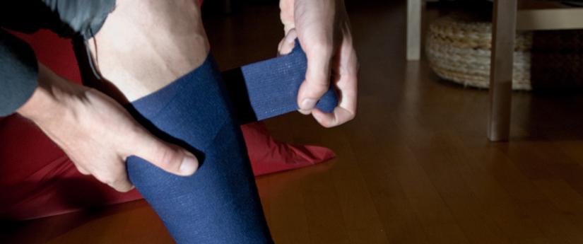 Als vanouds sporten met een bandage