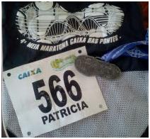Startnummer Halve Marathon Brasilie